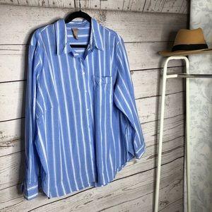 H&M plus size button down shirt size 20